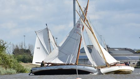 Puck and White Rose at the top mark. Picture: Kelvin Halifax