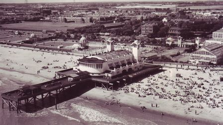 The heritage walk takes place between the Wellington Pier (pictured) and the Britannia Pier. Photo: