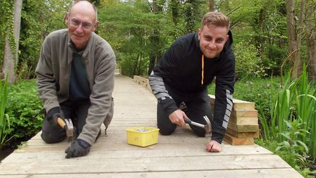 A dad's den building challenge is taking place. Photo: Fairhaven Gardens