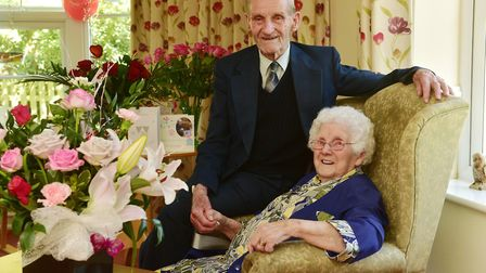 Dennis and Grace Hembling celebrate 70 years of marriage.Picture: Nick Butcher.