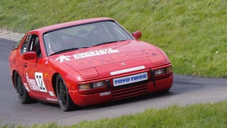 Gordon Weston is using his race-prepared Porsche 924S to raise awareness of prostate cancer. Picture