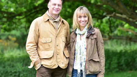 BBC Springwatch presented Chris Packham and Michaela Strachan at RSPB Minsmere. Picture: SARAH LUCY