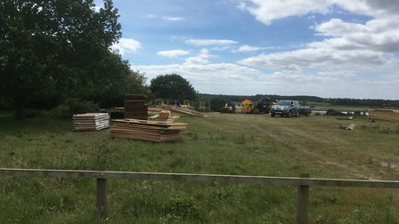 The cabin is being dismantled. Picture: PAUL GEATER