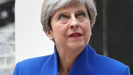 Prime minister Theresa May making a statement in Downing Street on Friday. Picture: Jonathan Brady/P