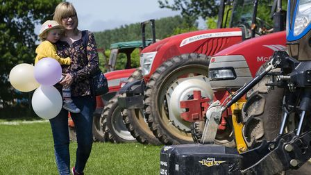 Open Farm Sunday at Place UK in Tunstead. Pictured are Rosa and Ruth Dyke. Picture: MARK BULLIMOR