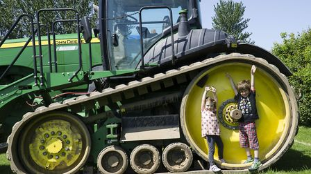 Open Farm Sunday at Place UK in Tunstead. Pictured are Eloise and Zach Zouvani. Picture: MARK BULL