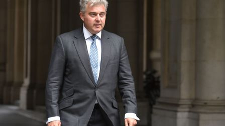 Conservative Party Member of Parliament for Great Yarmouth Brandon Lewis arrives at Downing Street i