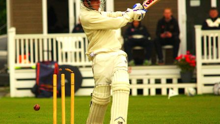 Matt Plater scored a brave 31 for Norfolk before losing his wicket. Picture: Tim Ferley