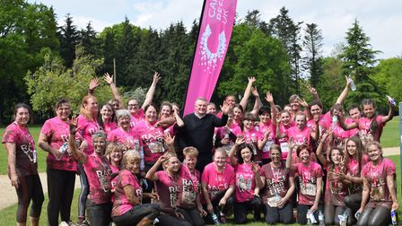The Mucky Boars team, a group from the Tesco Extra on Blue Boar Lane, who ran the Race for Life in N