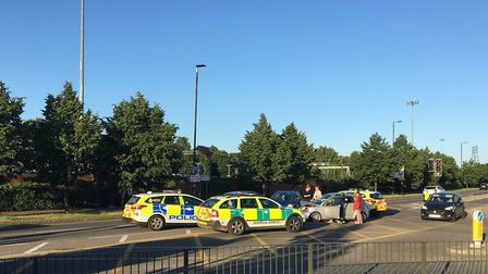 Emergency services were called to a crash in Koblenz Avenue. Pic: Archant.