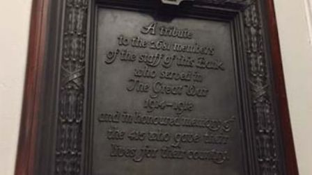 The war memorial which would move from the NatWest in London Street to the new one in Gentleman's Wa