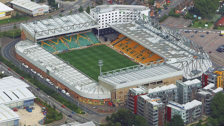 Norwich City Football Club's Carrow Road stadium. Picture: Mike Page