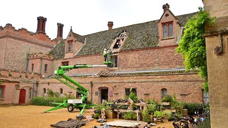 Window collapse at Oxborough Hall. Picture: ANTONY KELLY