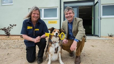 Diane McLelland-Taylor, Dogs Trust Snetterton rehoming centre manager, with Adrian Burder, the chari