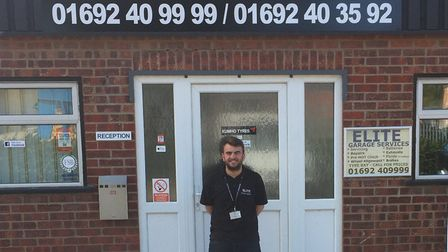 Sam Harvey-Bales works for his father's taxi firm and garage, and will be travelling to London to he