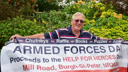David Brown is preparing for another Armed Forces Day event at his home in aid of Help for Heroes. P
