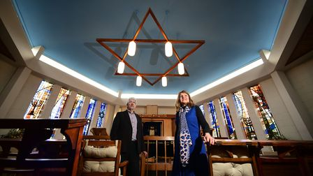Norwich Hebrew Congregation are trying to raise money for renovations. Dr Marian Prinsley and Nick S