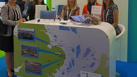 The East of England Energy Zone stan at the Offshore Wind Energy 2017 conference and exhibition at L