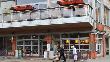 The Giraffe restaurant just by Chapelfield shopping centre in Norwich. Photo: Simon Finlay
