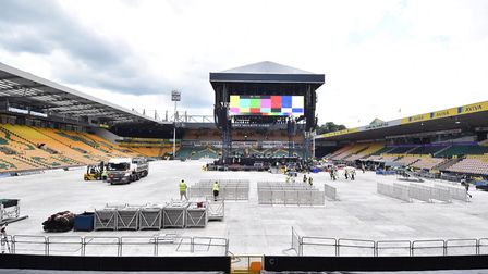 First night of the Take That concerts at Carrow Road. Picture : ANTONY KELLY