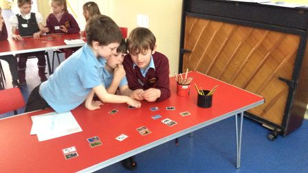 Browick Road Primary School children in Wymondham take part in the ecology workshop. Picture: BOVIS