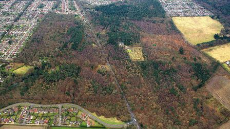 Thorpe Woods proposed housing area.