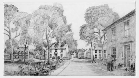 Artist's impression of the development at Racecourse Plantations at Thorpe. Photo: Four PR