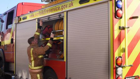 Fire crews from Great Yarmouth were called out. Photo: Denise Bradley.