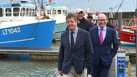 UKIP's fisheries spokesman Mike Hooken with Paul Nuttall in Lowestoft earlier this year. Picture Mic