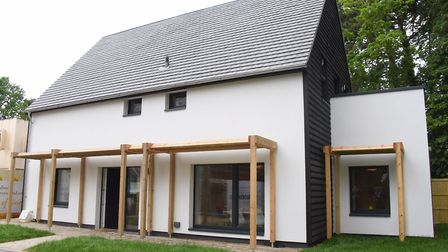 One of the new Passivhaus eco standard homes at Carrowbreck Meadow at Hellesdon. Picture: DENISE BRA