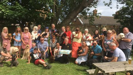 Captain the pug celebrates his birthday with friends and their owners. Picture: David Hannant
