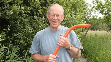 John Houlgate of Southrepps, who has been awarded a British Empire Medal (BEM) for his conservation