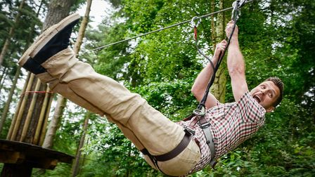 Has your dad got a head for heights? Try taking him to Go Ape at Thetford Forest. Picture: Matthew U