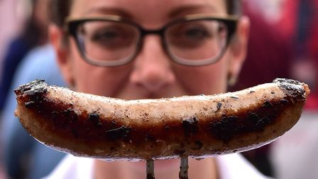 The Norwich Food and Drink Festival. Local butchers compete in the Battle of the Bangers. Picture: A