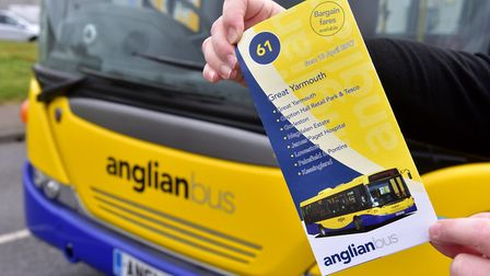 Anglian Bus timetable for the 61 service, which will soon omit Gapton Hall and Harfrey's Industrial