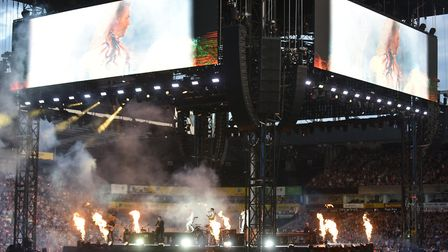 Take That perform at Carrow Road. Picture: SONYA DUNCAN