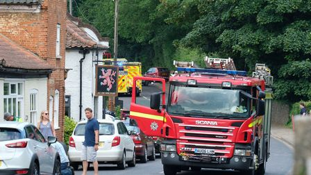 Four people had to be freed from their vehicle following a crash in Coltishall (Picture: Mark Snelli