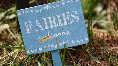 The Fairies welcome sign at Emily's House, the fairy tree in the front garden of Neil and Jan Rafis