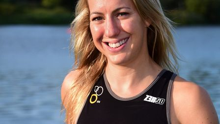 Kimberley Morrison finished third at Iroman 70.3 Staffordshire. Picture: DENISE BRADLEY