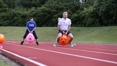 Work colleagues taking part in the Fit4Work Corporate Games at UEA Sportspark. Picture: Active Norfo