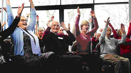 Norfolk Carers provides Come Singing at The Costessey Centre with a grant. The popular singing group
