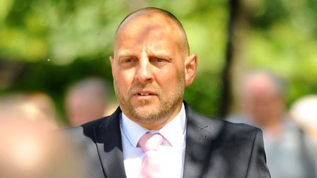 Police officer David Phelps at Norwich Crown Court for perverting the course of justice. Picture: DE