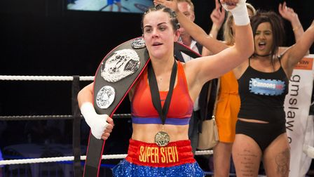 Stevi-Ann Levy celebrates her title win at Contenders 19. Pictures: Egle Mykolaityte and Rebecca Yex