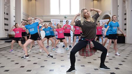 Kimberly Wyatt hosts a dance class for girls in Cirencester. Photo: Doug Peters/PA Wire
