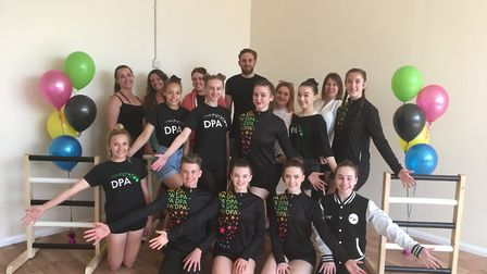 Teachers and students of DPA Performing Arts Academy celebrate the opening of their new studios. Pic