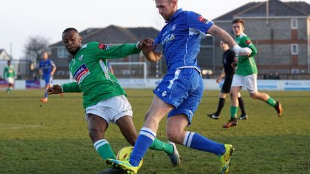 Ryan Jarvis in action for Lowestoft. Picture: Shirley D Whitlow