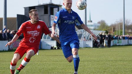 Frazer Blake-Tracey has left Lowestoft to join King's Lynn Town. Picture: Shirley D Whitlow
