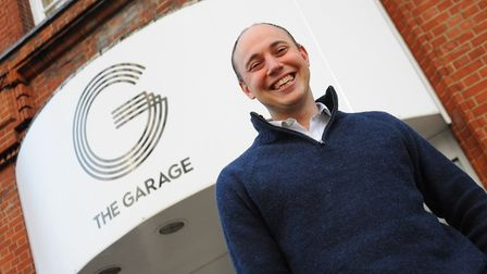 Executive director Adam Taylor at the Garage, who has announced their exciting future plans. Picture