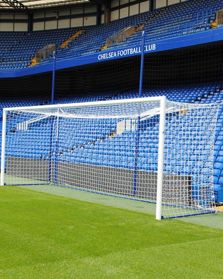 MH Goals supplied the goals and other equipment for Premier League champions Chelsea FC. Picture: MH