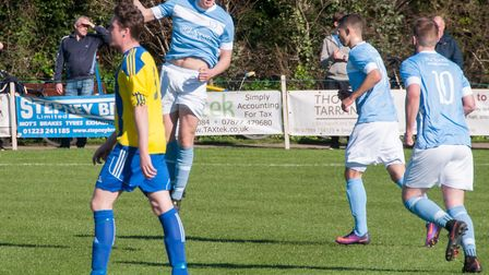 Craig Gillies in action for Chatteris Town. Photo: Steve Snell
